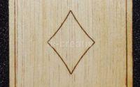Figurina lemn pentru pictat carte Romb - L0243