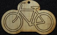 Figurina lemn pentru pictat bicicletaL0248