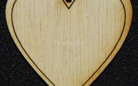 Figurina lemn pentru pictat Inima dubla - L0266