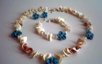 Scoici flori din Fimo si perle !