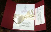 Invitatie - Gatefold - Pink chandelier