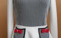 bluza cu buline si peplum