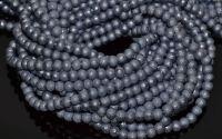 Perle sticla gofrate 6 mm - gri petr