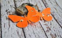 Cercei piele naturala fluturasi