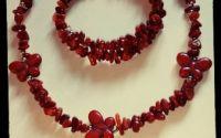Set bijuterii handmade coral