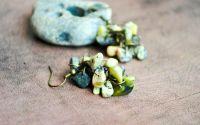 Cercei ciorchine - jasp verde