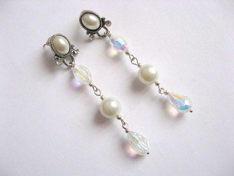 cercei perle sticla