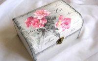 Cutie din lemn -trandafiri -