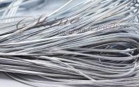 Snur imitatie piele argintie 2x1mm