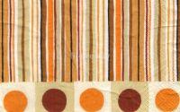 Servetel Dots and Stripes orange  -  S1083