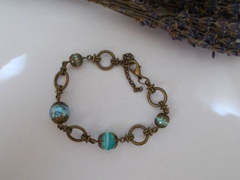 Bratara perle si margele sticla b3