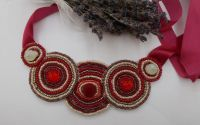 Colier red beads m31
