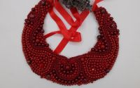 Colier red beads m34
