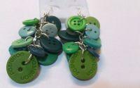 Cercei din nasturi verzi