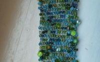 Bratara din sarma crosetata cu cristale