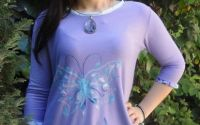 "Tricou pictat manual ""Butterfly"""