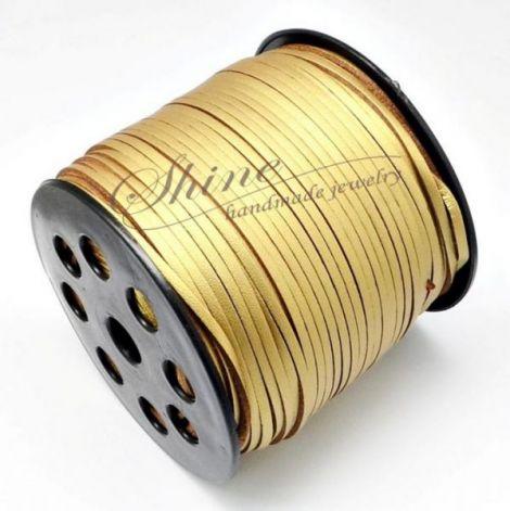 Snur Suede auriu 2.7x2mm