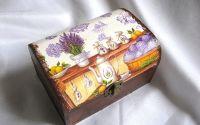 Cutie lemn decorata -