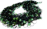 Colier crosetat Black and Green