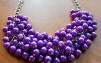 Colier perle mov