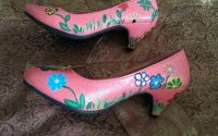 Pantofi de dama pictati manual