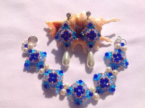 set blue and white participa conc. santorini blue
