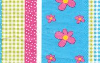 Servetel Strip of Flowers - S1186
