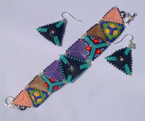 set triunghiuri colorate