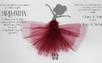 invitatie botez fetita balerina cu tutu
