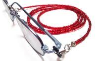 Lantisor pentru ochelari margele rosii