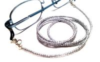 Lantisor pentru ochelari margele argintii