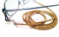 Lantisor pentru ochelari margele aurii