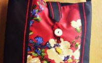 geanta tablou cu flori