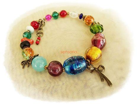 bratara multicolor cu fundite