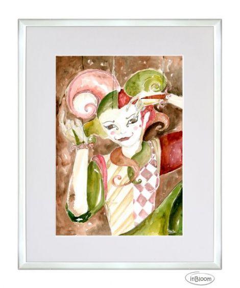 Clown cu masca - Retinut