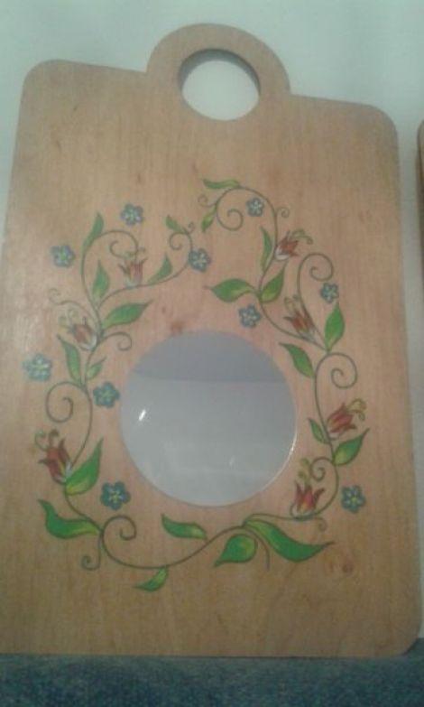 oglinda suport rustic