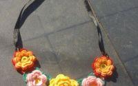 Colier handmade crosetat