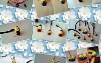 minioni breloc handmade