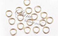 Zale aurii din INOX 8x0.8mm