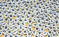 500 buc litere alfabet mix forma disc cal. II