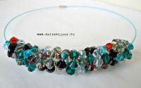 Colier cristale multicolore