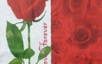 1034 Servetel trandafir rosu