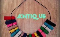 Colier multicolor textil Antique