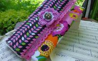 Geanta  Plic Dama - Shabby Chic - Handmade