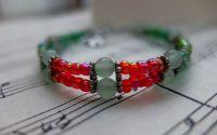 Bratara Dubla - Seed Beads and Jade - Handmade