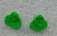Cercei trandafiri verzi