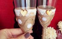 Set rustic pahare de nunta