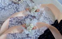 Corsaje somon elegante de nunta