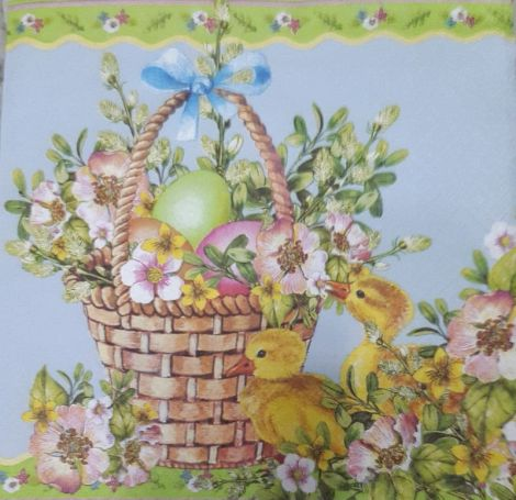 1050 Servetel cosulet cu flori