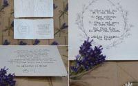 invitatie nunta cu lavanda si plic natur